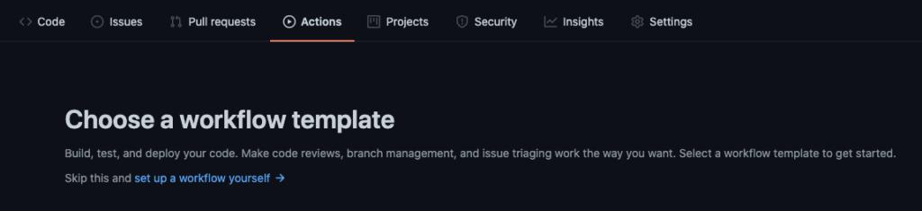 Workflowの設定